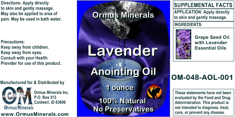 Ormus Minerals Lavender Anointing Oil 1 oz